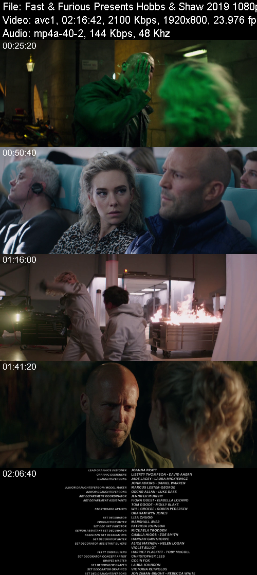 Fast & Furious Presents Hobbs & Shaw (2019) BluRay 1080p YIFY